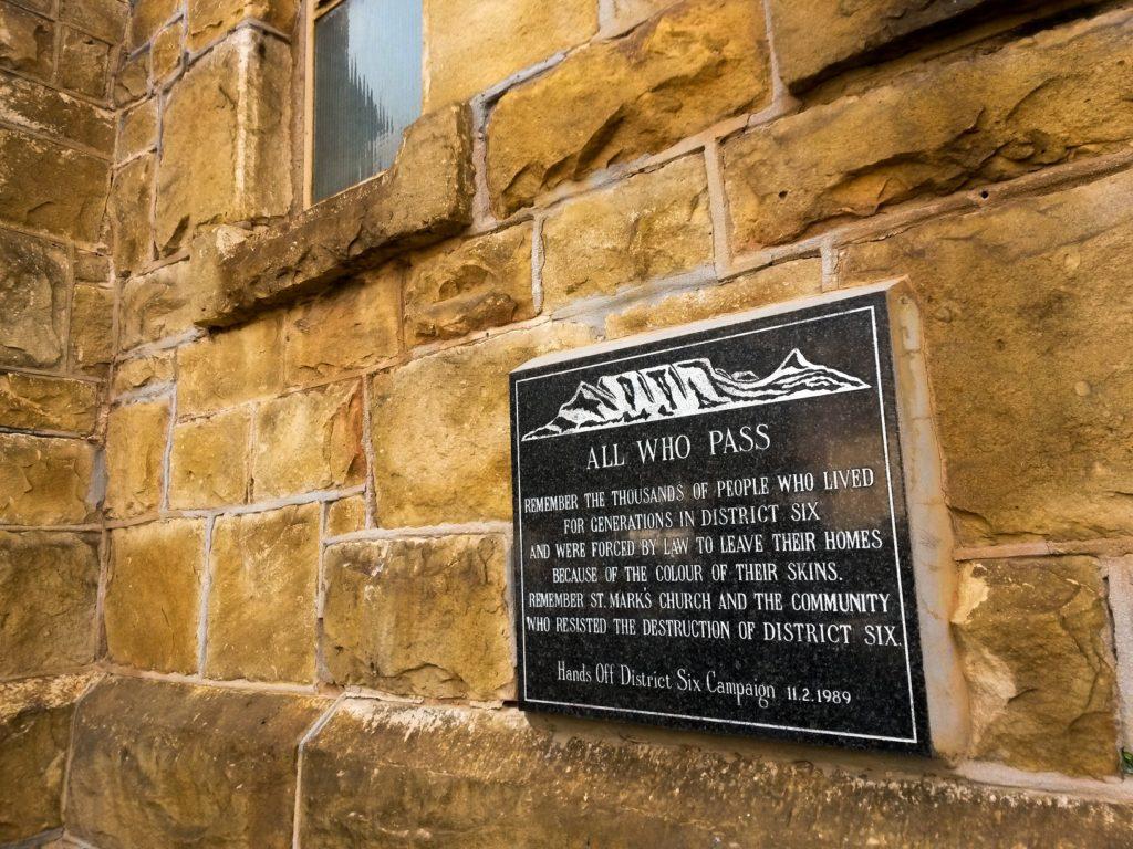 District 6 Stubborn Church Memorial Plate