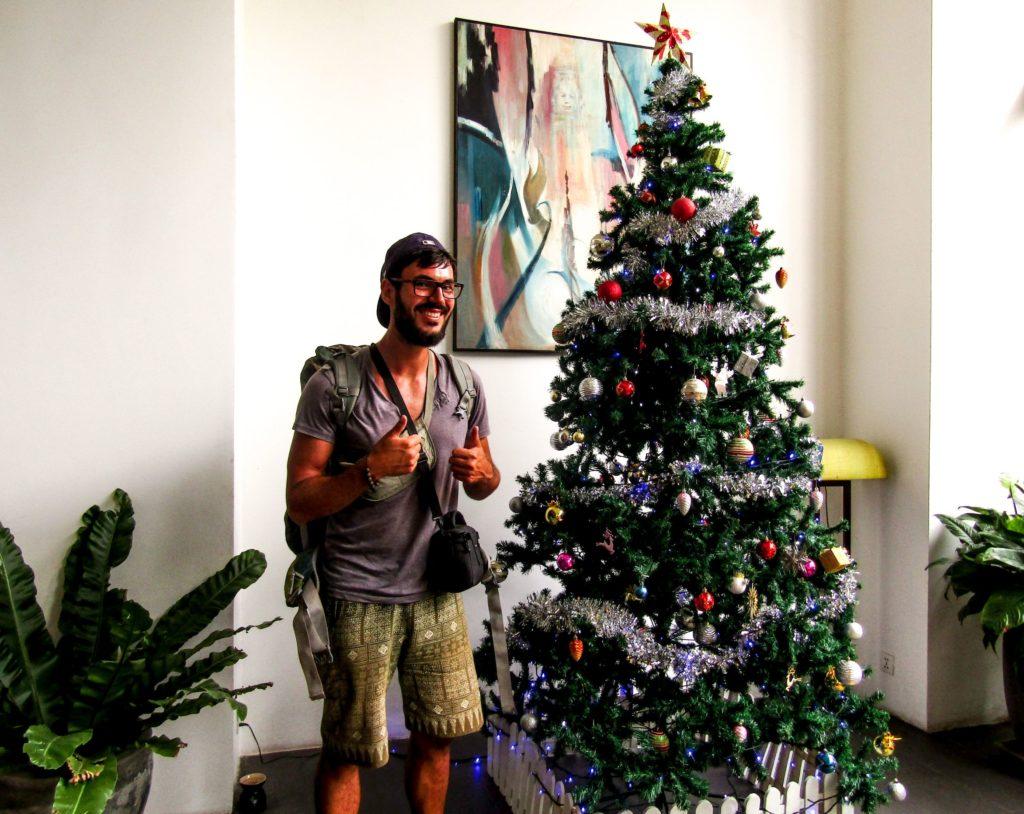 Geschenke für Backpacker Weihnachtsbaum