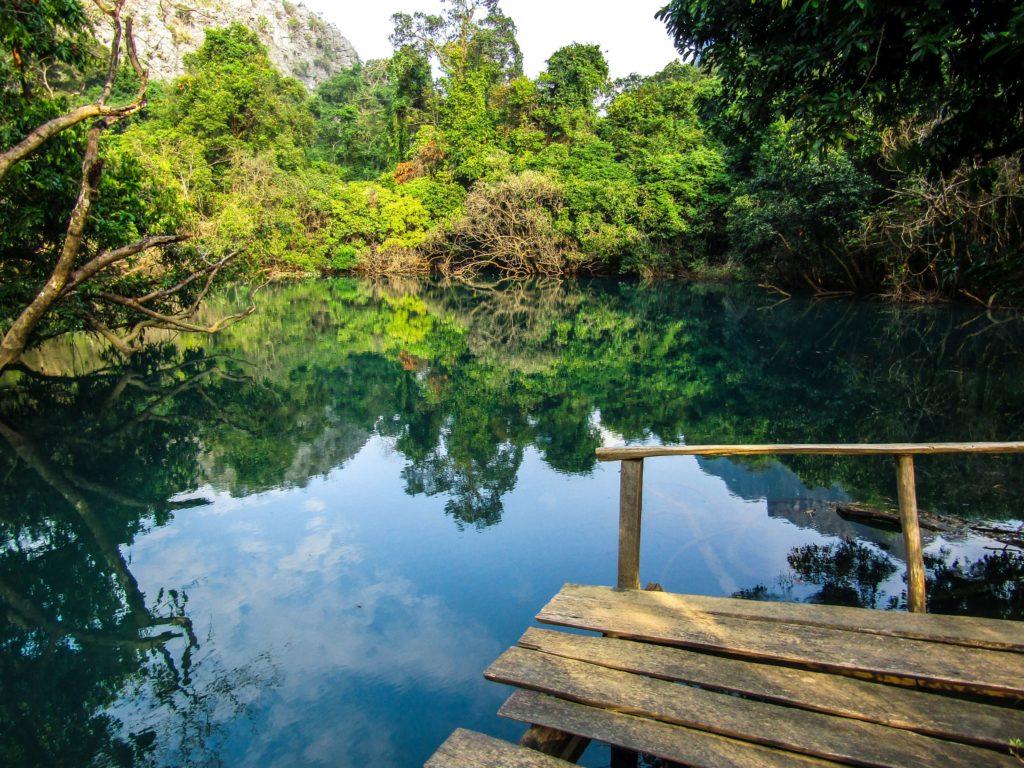 Thakhek loop blaue Lagune