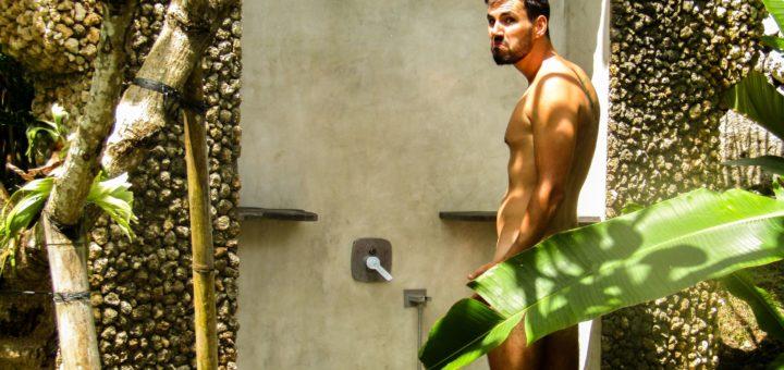 AmanGiri Outdoor Dusche Bali