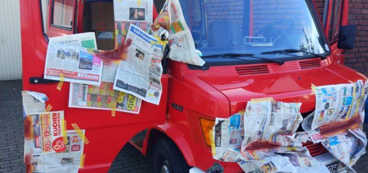 Restauration Basisfahrzeug Camper Umbau Mercedes T1 Feuerwehrauto