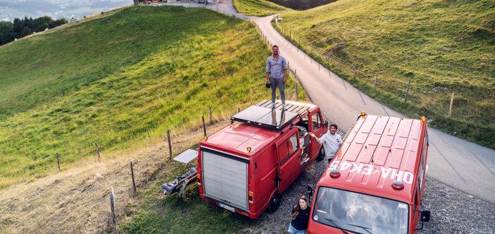 Vanlife im Feuerwehrauto