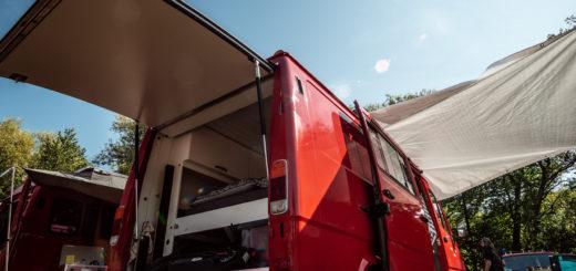 Mercedes T1 Feuerwehrauto Umbau Rolltor Heckklappe Camper Van